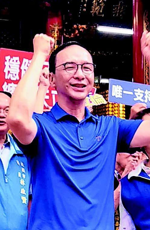 國民黨總統初選民調前最後一天,朱立倫返桃園家鄉走訪宮廟。 記者曾增勳/攝影