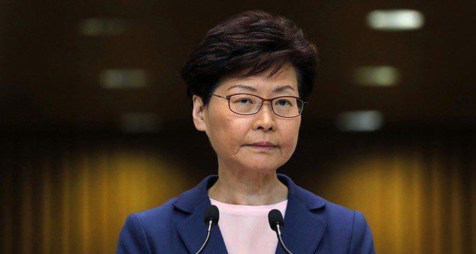 香港特區行政長官林鄭月娥。 美聯社