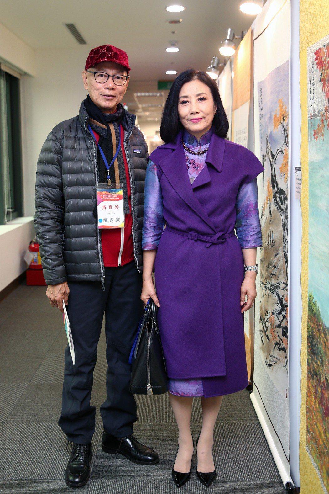羅家英(左)與老婆汪明荃(右)。 圖/聯合報系資料照