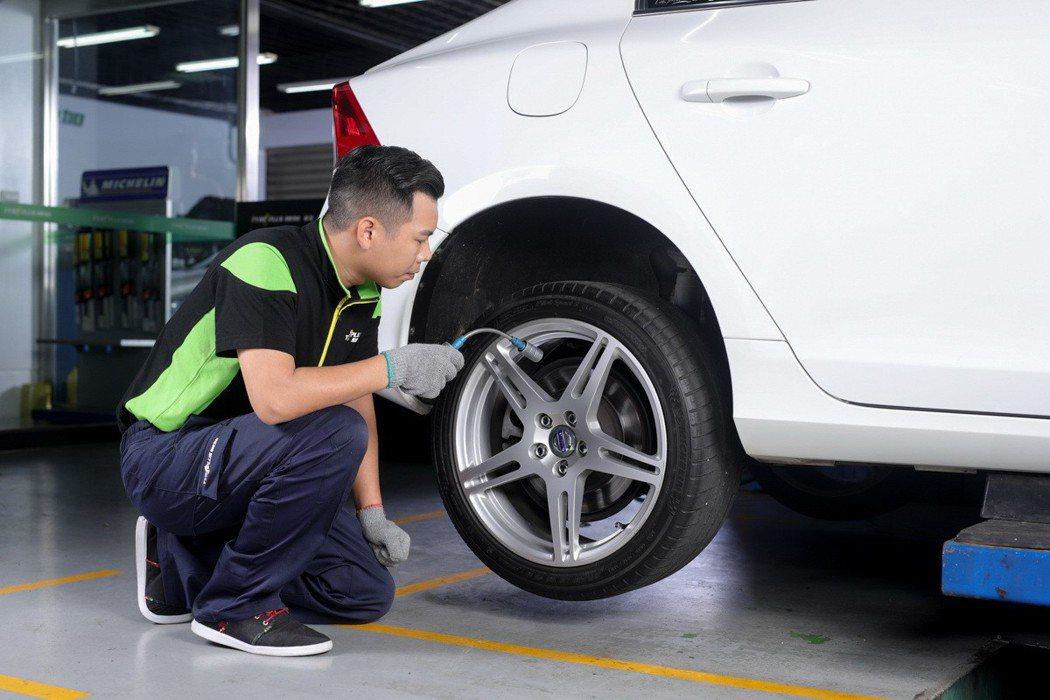米其林馳加旗艦館可線上預約,提供最優異的安裝定位服務。 圖/台灣米其林提供