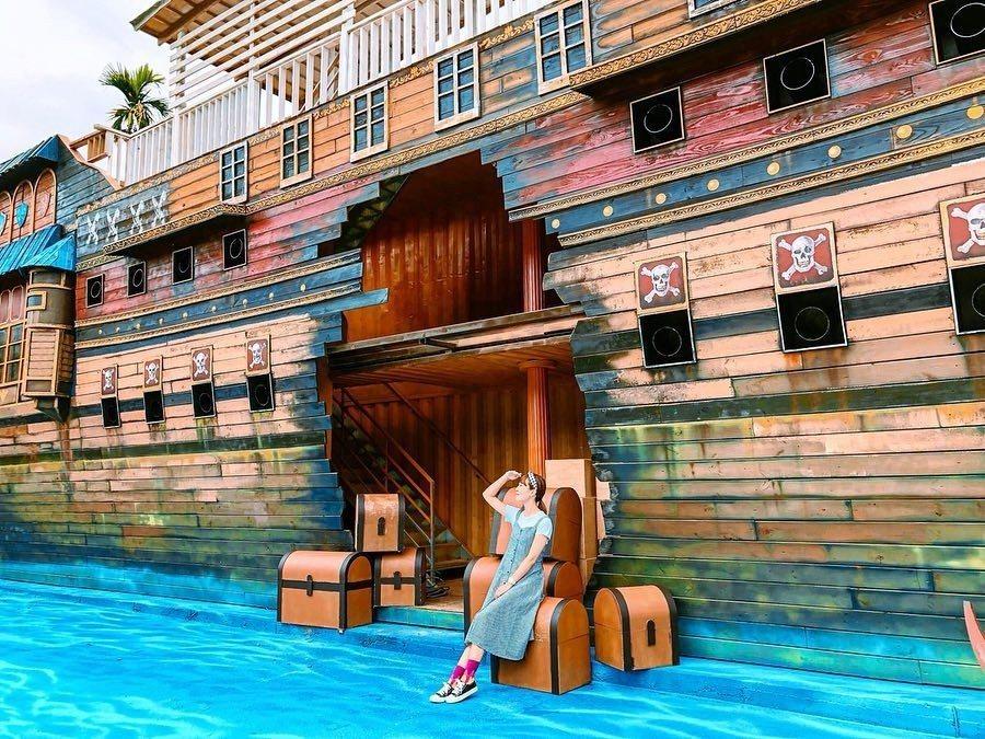 圖/超大型海盜船造景,還可以登船觀看,童趣感十足。網友littlestar020...