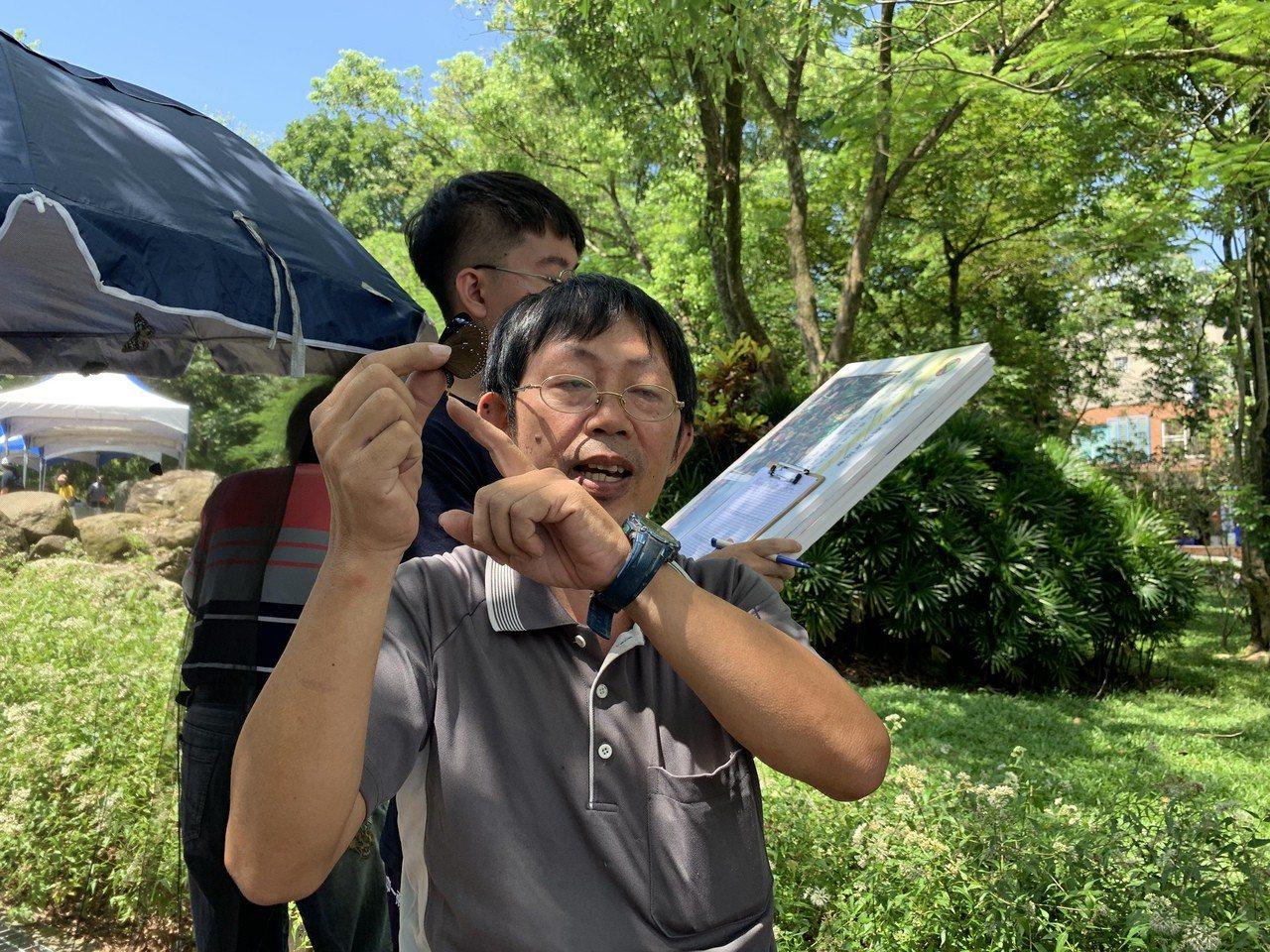目前是台灣紫斑蝶生態保育學會志工的國小老師李榮宗,是紫斑蝶復育的募後推手。記者吳...