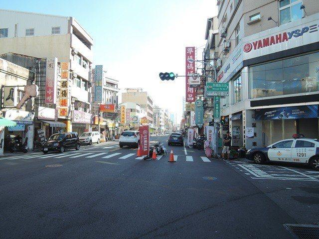 台南市中西區易肇事路段,警方分析車禍主因大多是未依規定讓車釀禍。記者黃宣翰/翻攝