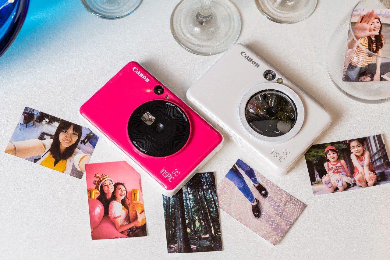 Canon共推出兩款拍可印相機,其中iNSPiC [C] 款還具備自拍鏡面與天使...