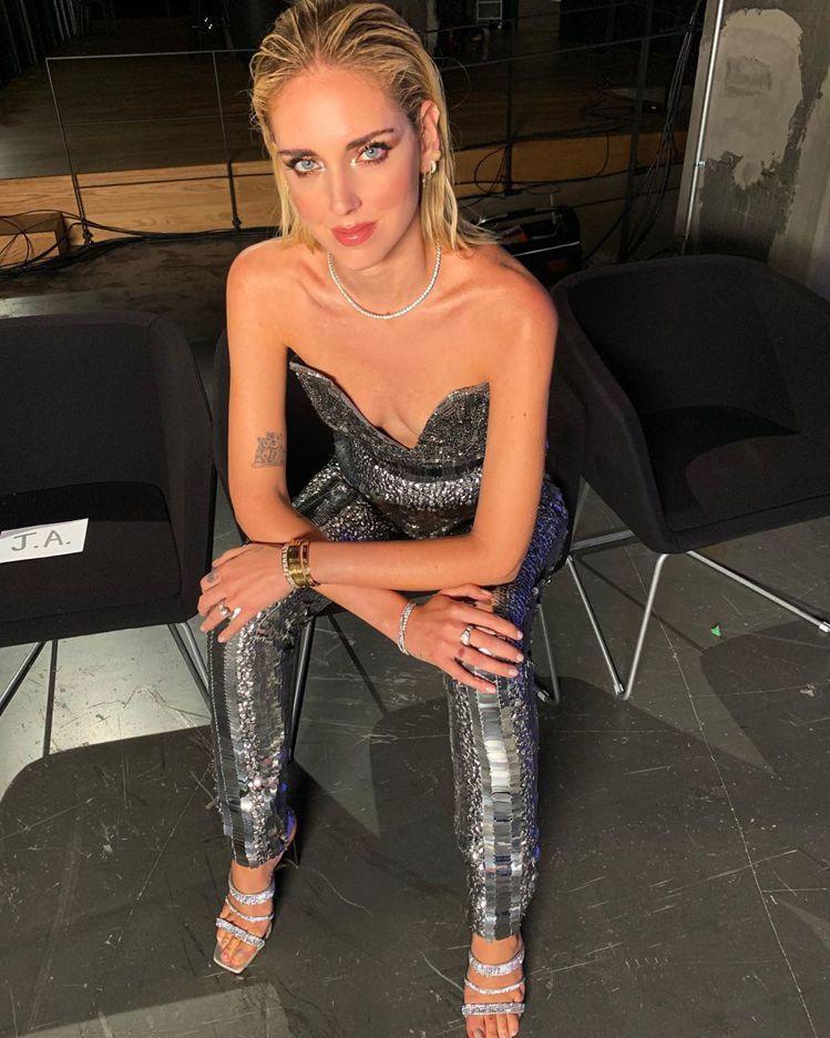 義大利時尚部落客Chiara Ferragni,穿上Alberta Ferret...