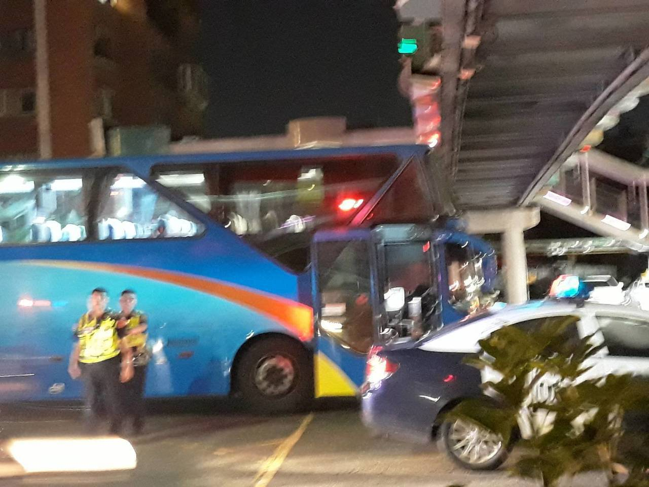 四車追撞老婦身亡。記者蕭雅娟/翻攝