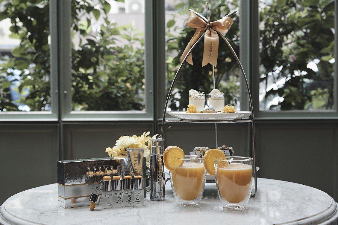 雅頓以經典艾地苯為靈感,與山蘭居打造聯名下午茶。圖/雅頓提供