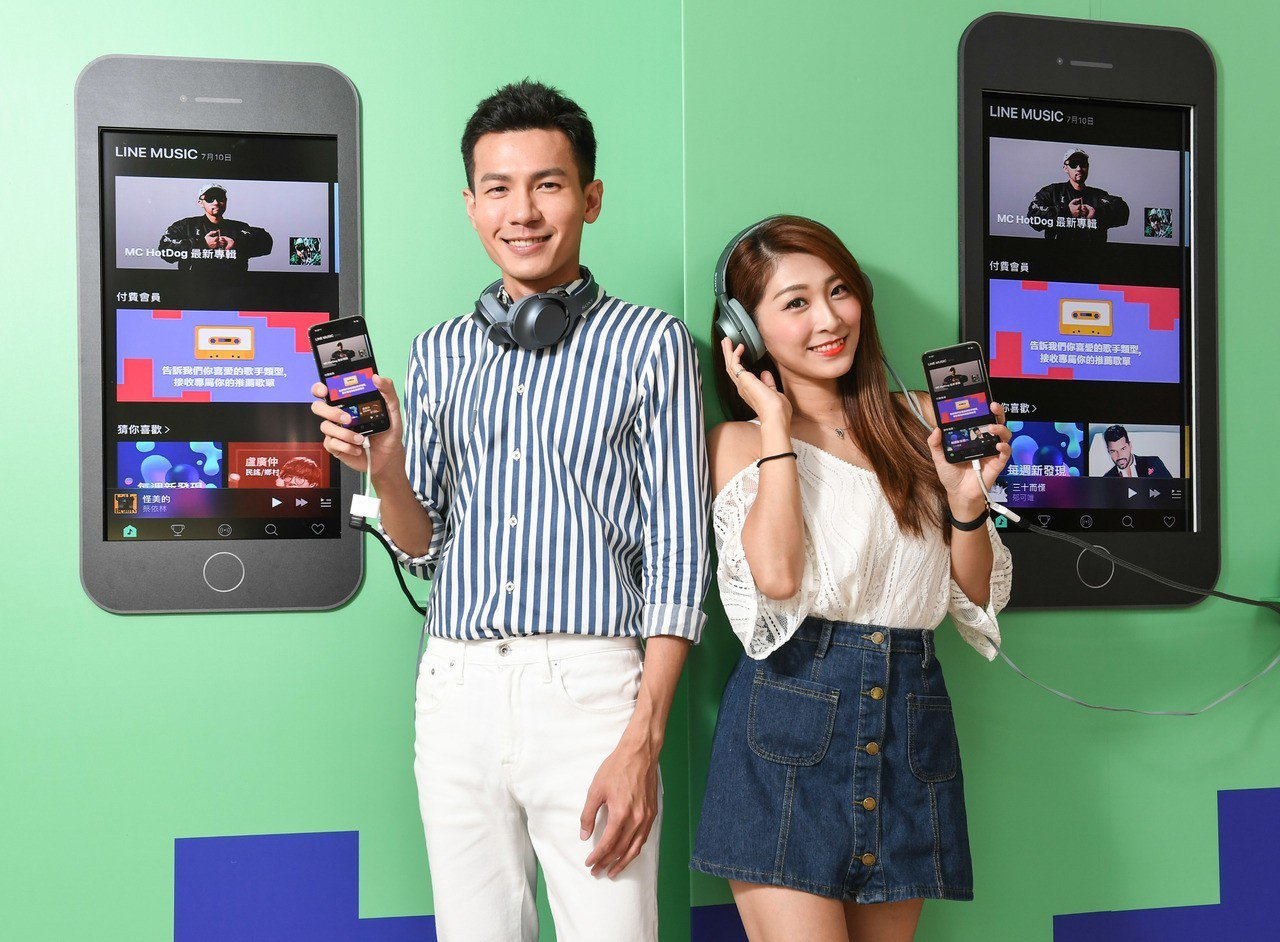 LINE MUSIC推一站式音樂服務,結合LINE通訊軟體讓用戶享交流樂趣。圖/...