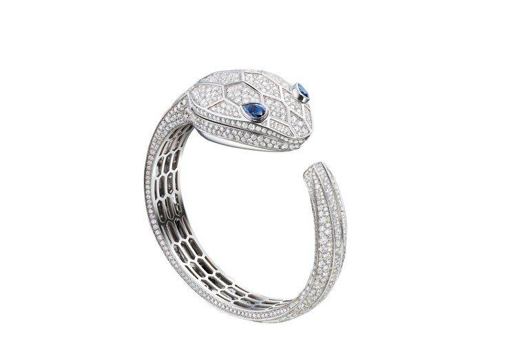 寶格麗Serpenti Seduttori Secret頂級白K金珠寶腕表,18...