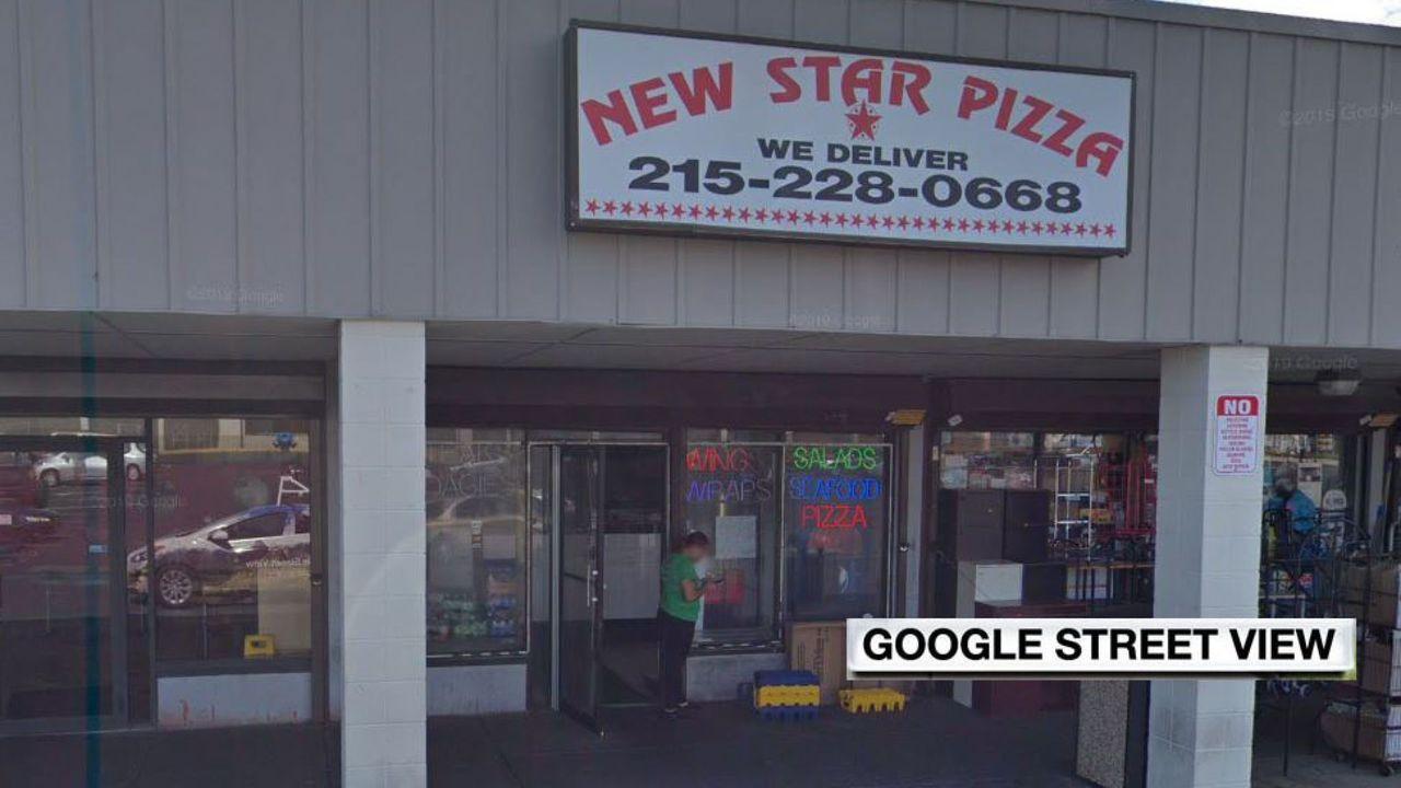 偷車案11日發生在費城這家披薩店外。圖/取自網路