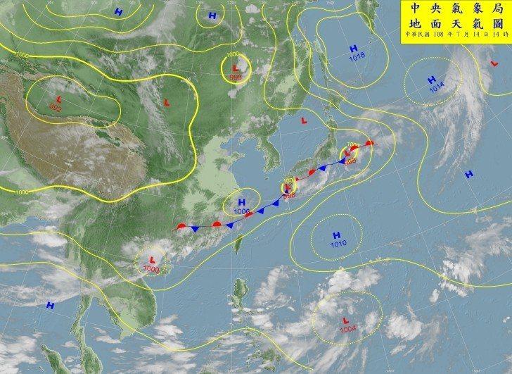 菲律賓東方低壓帶最快明晚升格為颱風。圖/取自中央氣象局網站