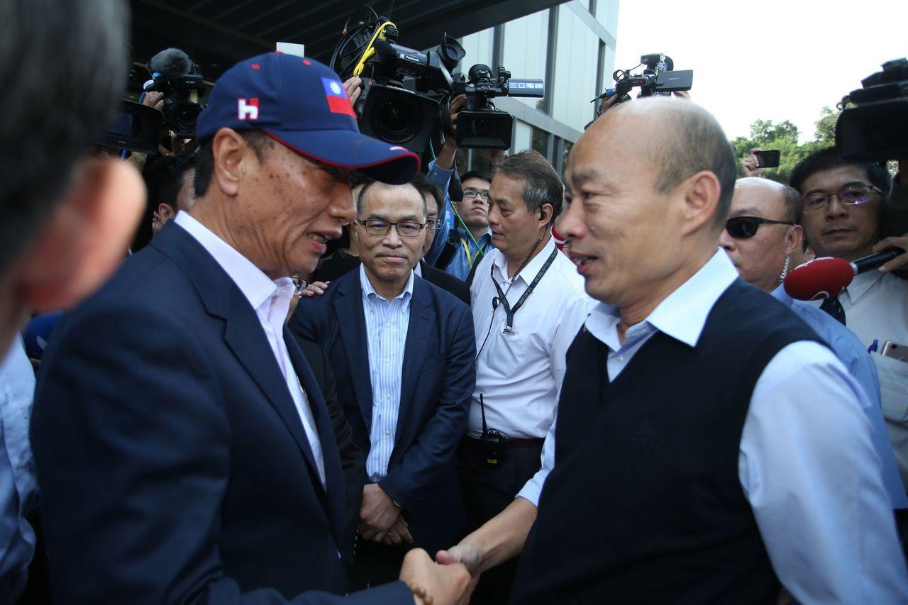 國民黨總統初選民調結果明天公布,高雄市長韓國瑜說他目前心境是平常心。圖/本報資料...
