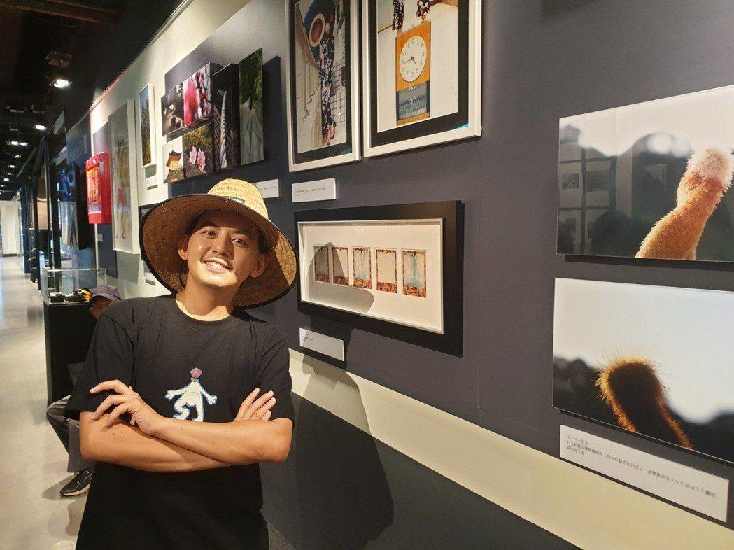 黃子佼攝影展在百貨公司開展。記者李姿瑩/攝影