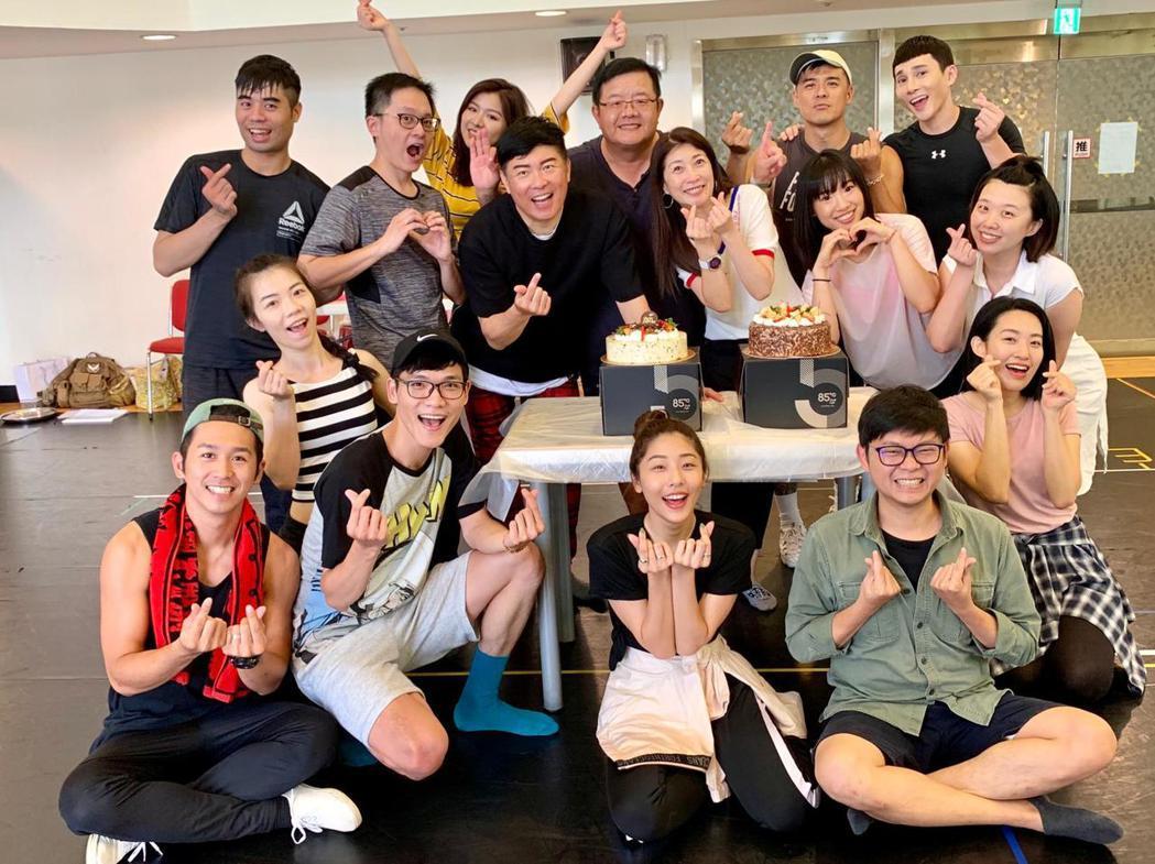黃嘉千、曾國城排練音樂劇,「果陀劇場」慶祝31歲生日。圖/果陀提供