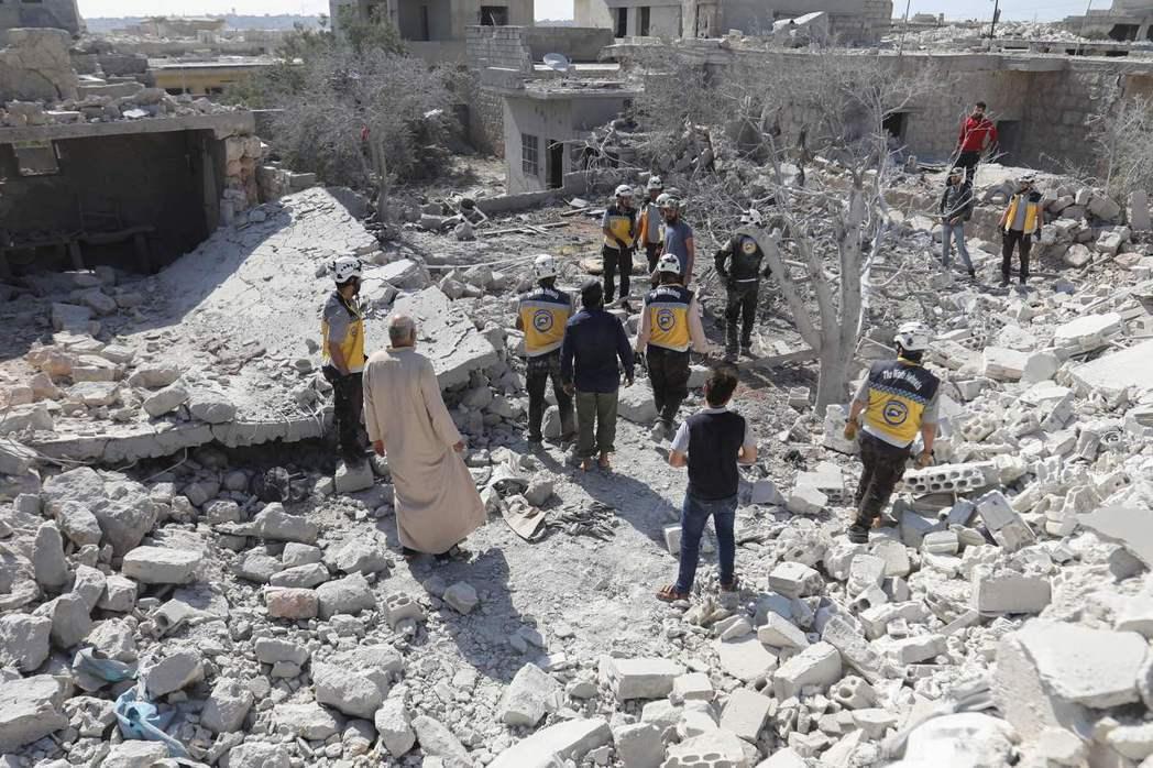 土耳其在敘利亞伊德利布省有維和部隊。  (法新社)