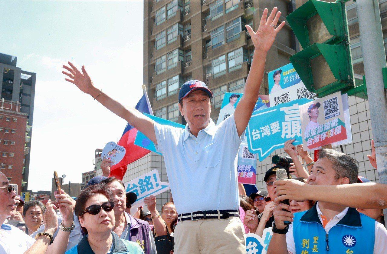 國民黨總統初選參選人郭台銘。 聯合報系資料照/記者黃義書攝影