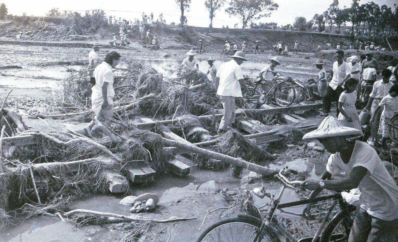 1959年八七水災重創台灣中南部。 圖/聯合報系資料照片