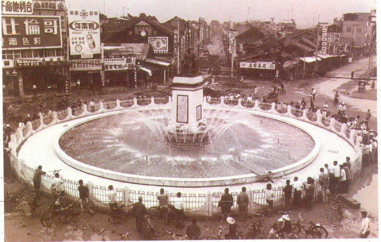 嘉義中央噴水池歷史影像。(圖/本報資料照片,嘉義市政府提供)
