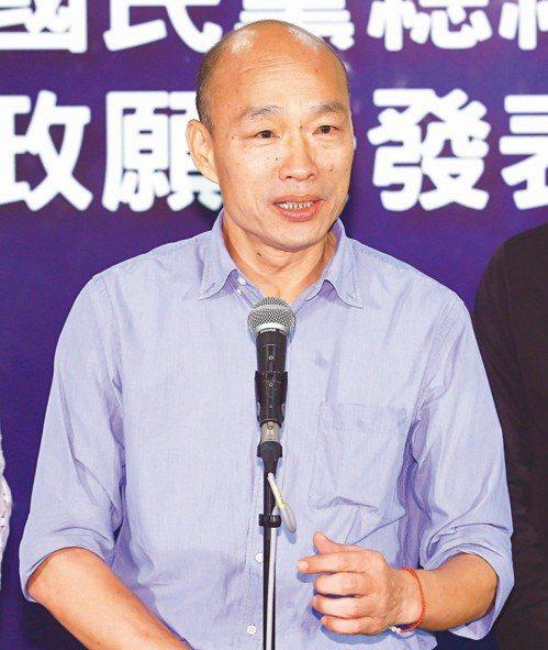 高雄市長韓國瑜。 本報資料照片