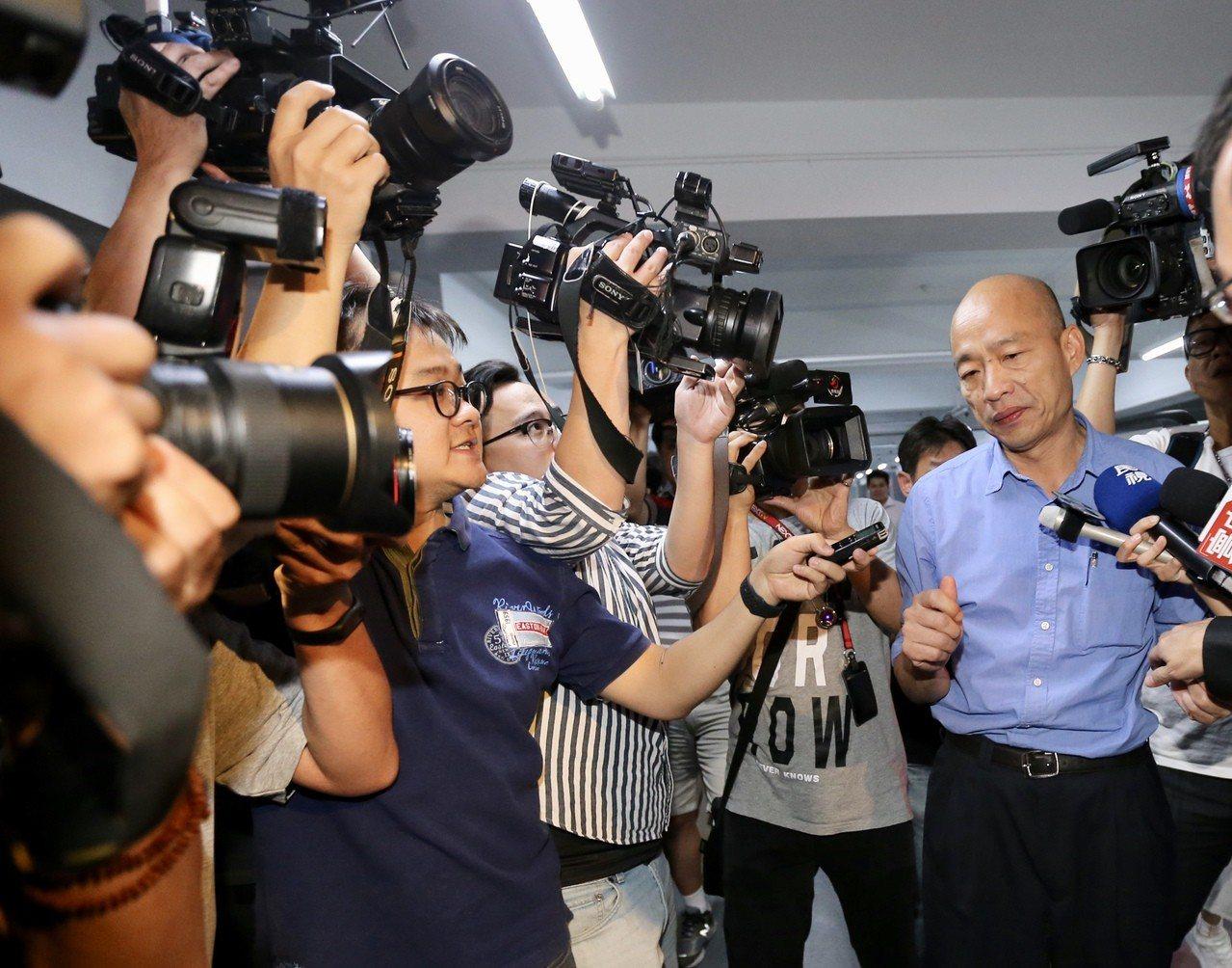 韓國瑜贏下國民黨內總統初選。 聯合報記者許正宏/攝影