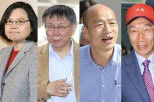 蔡總統對決韓國瑜 柯文哲郭台銘動向最大變數