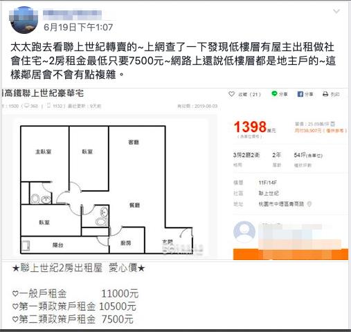 網友擔心房屋被當成社會宅出租後「鄰居會不會變複雜」,被嘲諷心態可議。圖擷自 ...