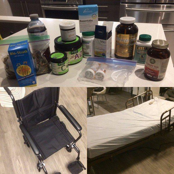 zylTV的家人也利用這筆募款來購買父親的藥品、輪椅、病床等醫療設備/圖片截自推...