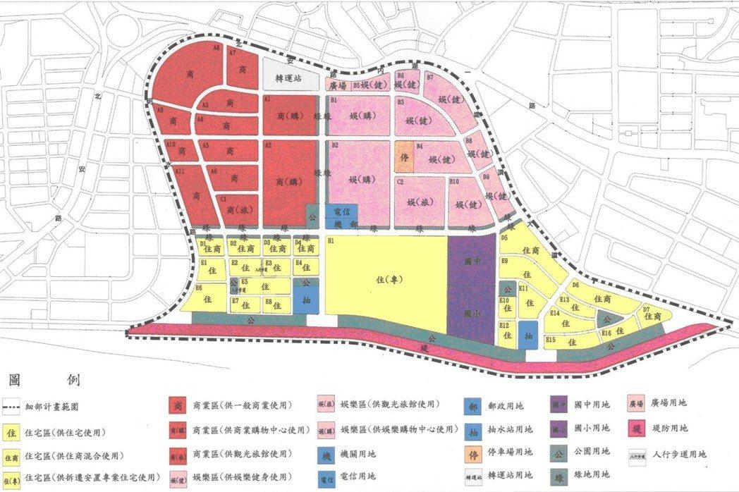 大彎北段都市計畫圖。 圖/台北市都發局