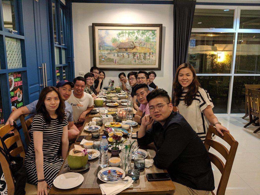 台灣與泰國新創團隊晚宴。 TSS /提供