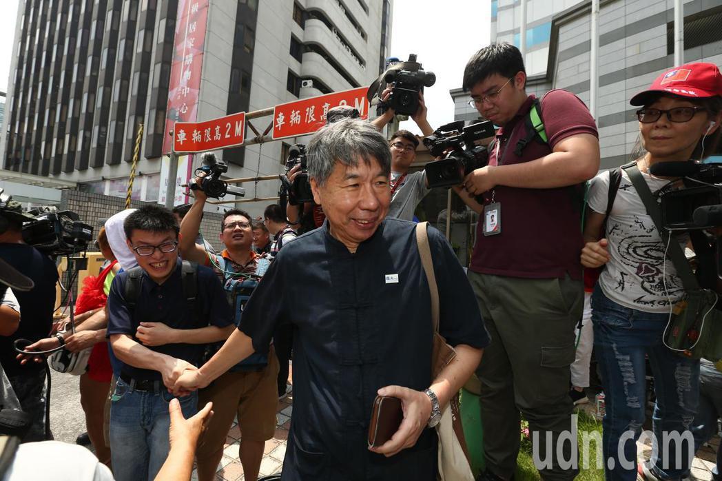 國民黨初選結果出爐,張亞中出席。記者曾原信/攝影