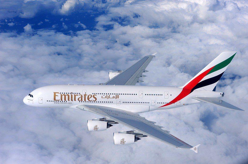 阿聯酋航空A380自台北出發前往歐洲熱門航點,經濟艙票價自9,300元(未稅)起...