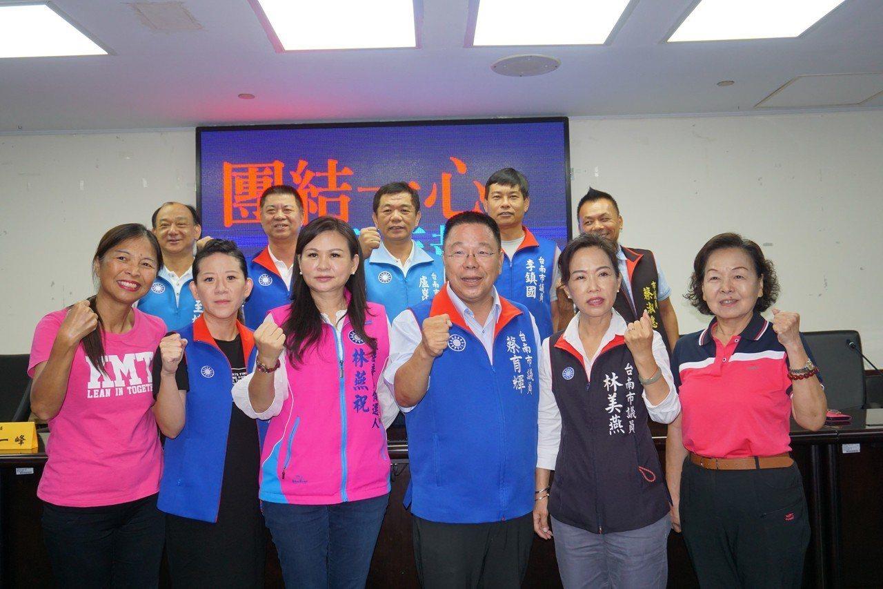 台南市議會國民黨團上午召開團結記者會。圖/黨團提供