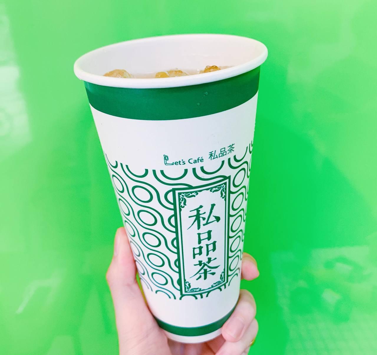 私品茶「椪柑百香青茶」口感清爽酸甜,會員價49元。記者徐力剛/攝影