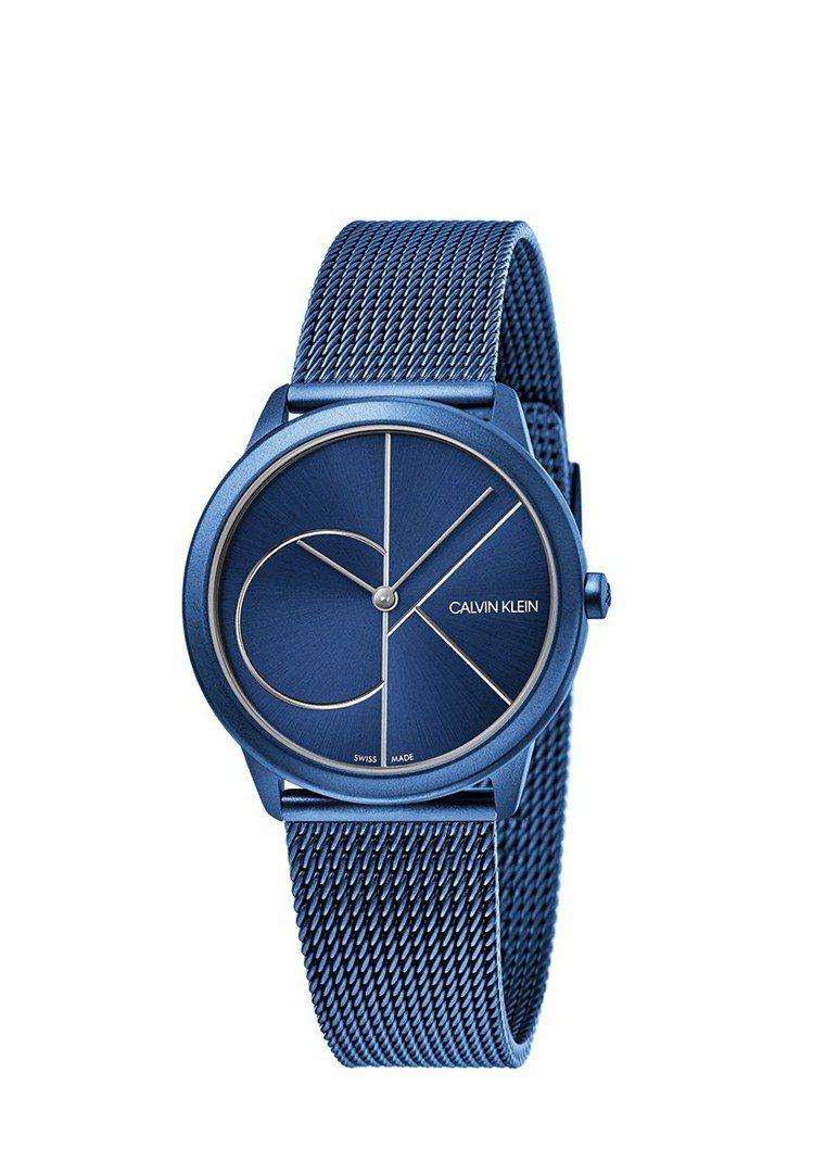 CK minimal系列腕表,海軍藍PVD不鏽鋼表殼,搭配海軍藍表盤,9,100...