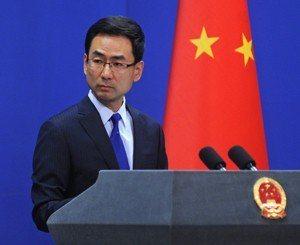 中共外交部發言人耿爽。取自中共外交部官網