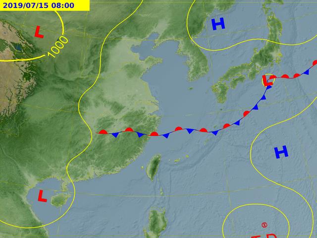 目前位於菲律賓東方海面的熱帶性低氣壓,最快今晚形成輕颱「丹娜絲」颱風。圖/取自中...