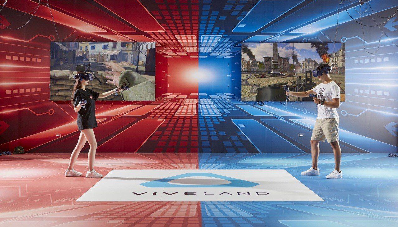 超過300坪的VR虛擬實境專區,是首座公部門與業界合作的體感樂園。圖/大魯閣草衙...