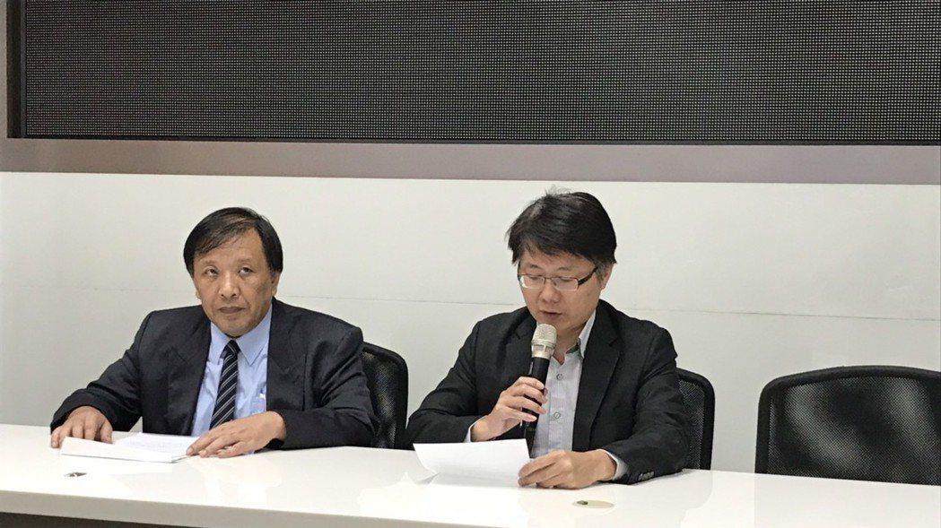 綠能財務長熊穉麟(左)及大同財務長彭文傑。 記者蔡銘仁/攝影