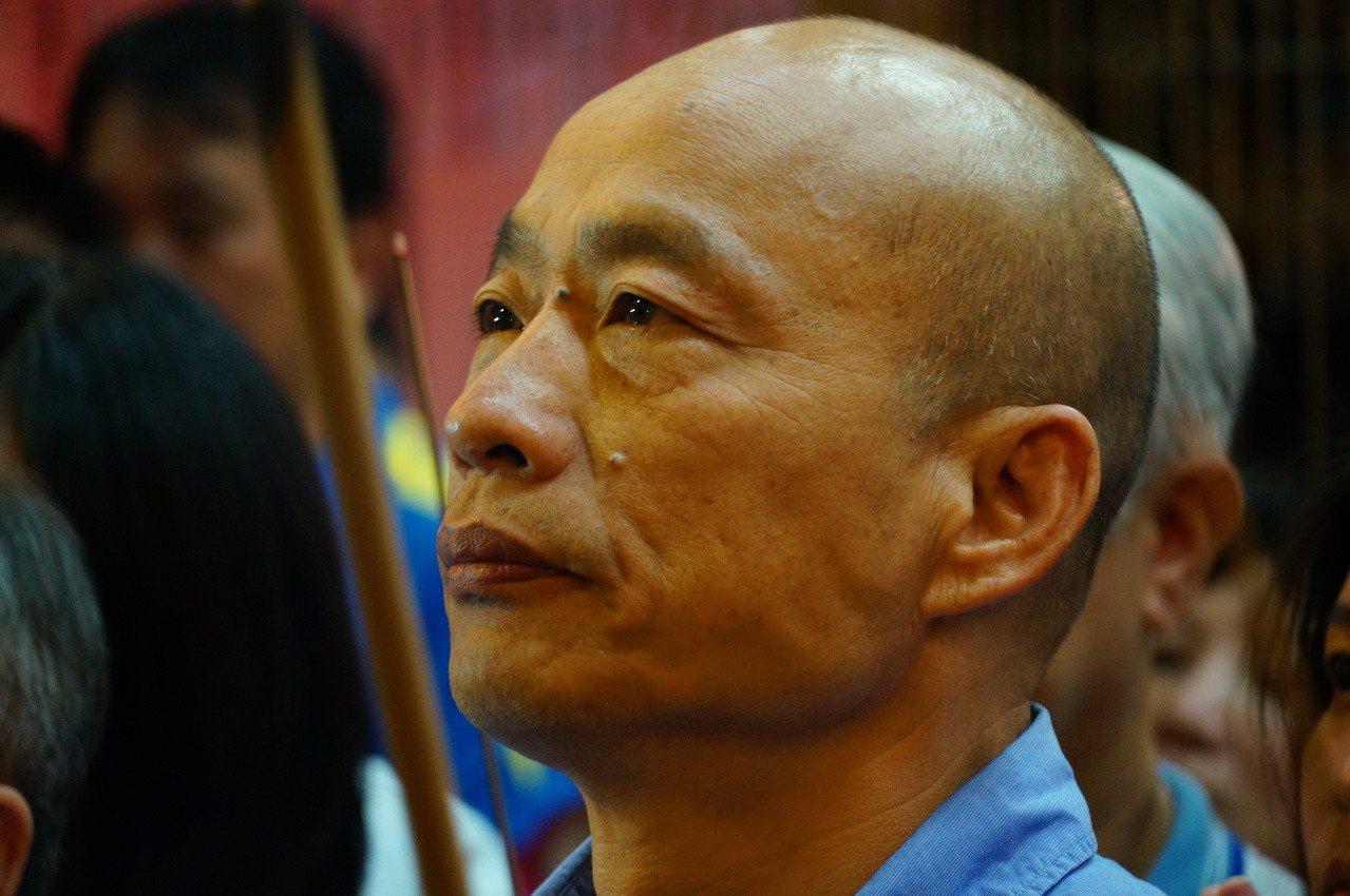 高雄市長韓國瑜通過國民黨總統初選。記者林伯驊/攝影