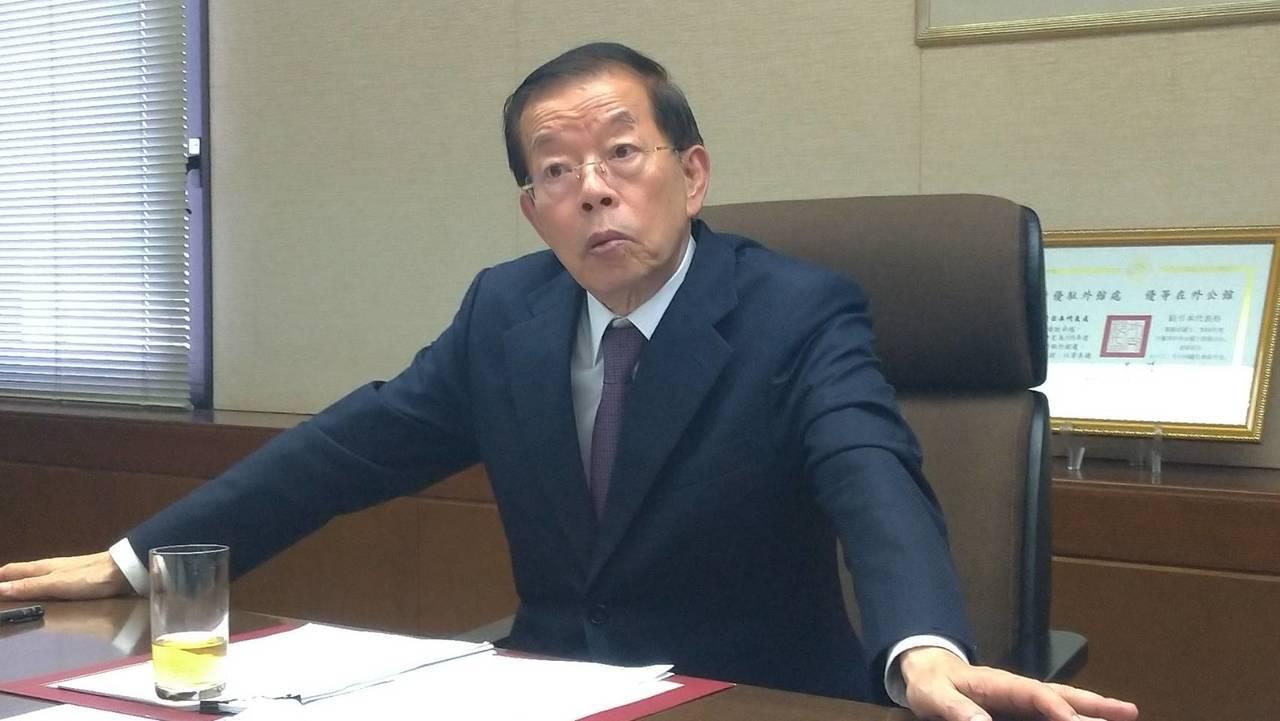駐日代表謝長廷表示,日本政府沒有說賀電是假的。聯合報系資料照片/記者蔡佩芳攝影
