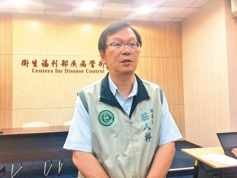 疾管署副署長莊人祥今公布,台南市新增一例本土登革熱病例。 記者陳婕翎/攝影
