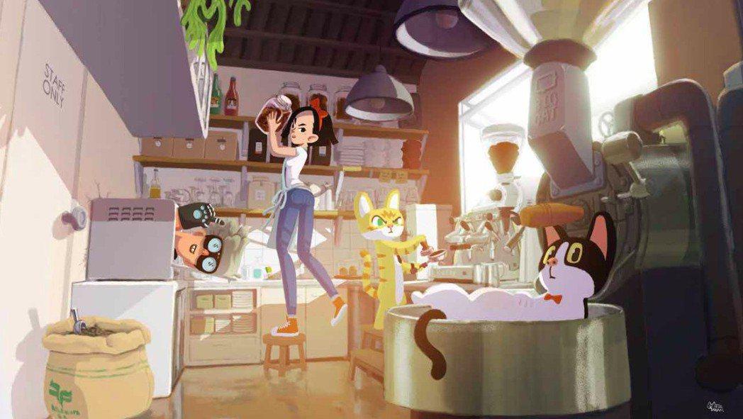 《德哥與皮皮》主角的靈感來自導演兩隻家貓。 大貓工作室/提供