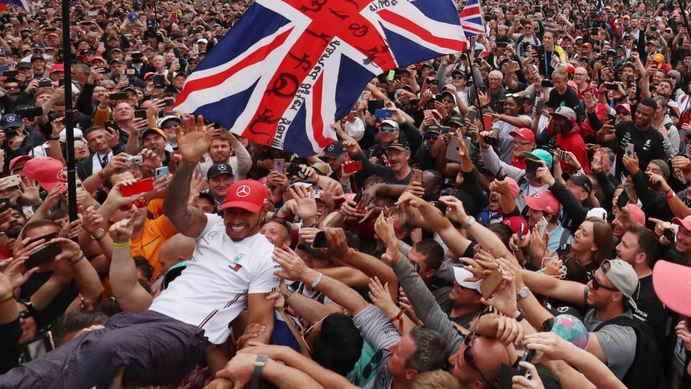 Hamilton以6勝之姿成為英國大獎賽史上拿下最多勝的車手。 摘自F1