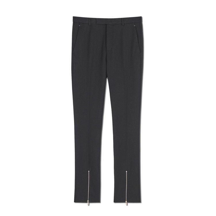 Berluti冬季系列拉鍊羊毛黑色西裝褲,37,500元。圖/Berluti提供