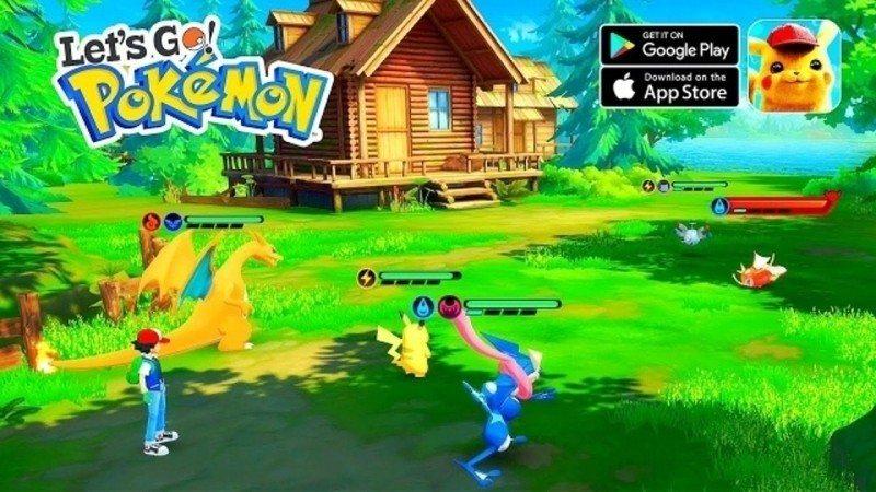 深圳山寨版「Lets Go Pokemon 口袋冒險家」的背景及人物造型,均酷似...