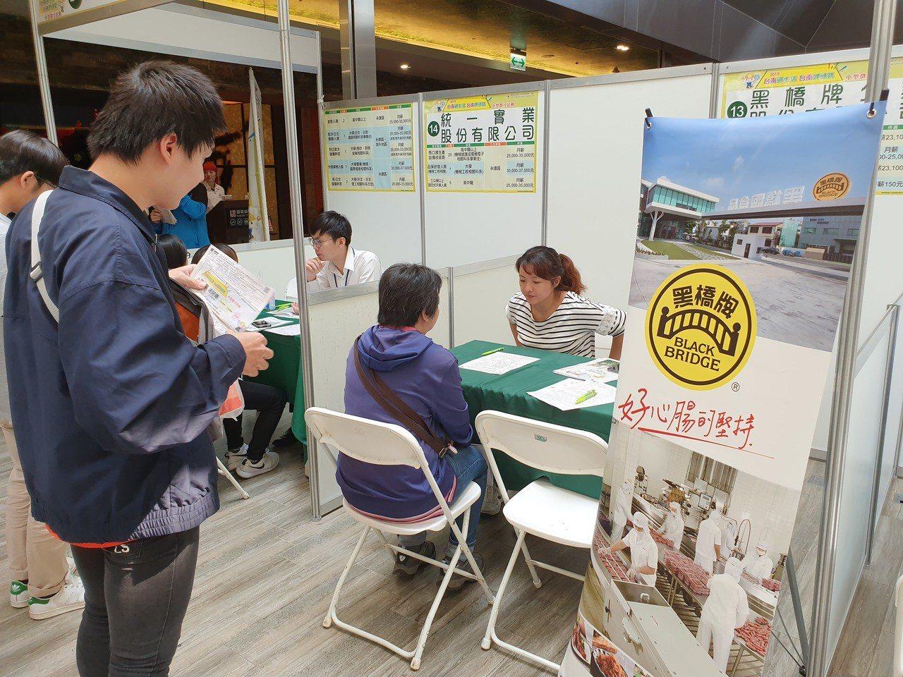 暑假求職旺季,台南市勞工局將舉辦第二場中型就業博覽會。圖/勞工局提供