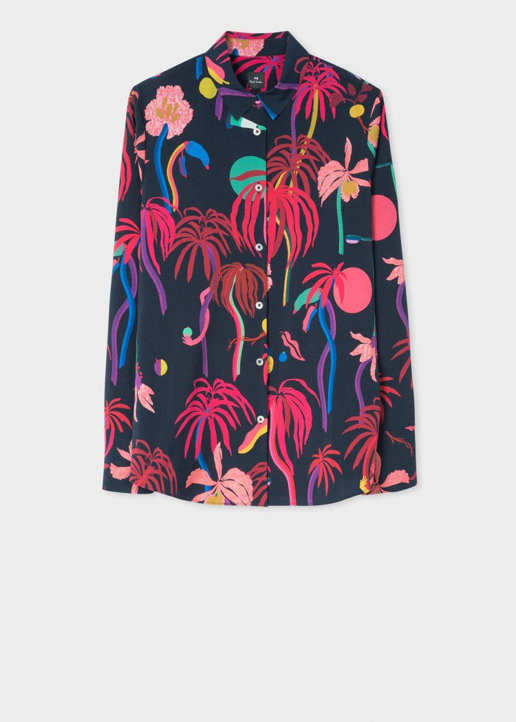 繽紛花卉襯衫,原價10,300元,特價5,150元。圖/Paul Smith提供