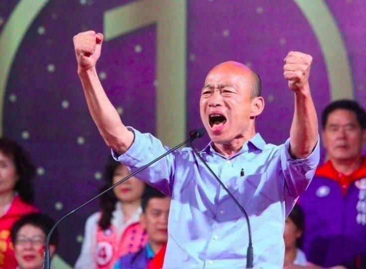 高雄市長韓國瑜因「菜攤被搶」意外重回江湖,如今將代表國民黨出征選總統。圖/聯合報...