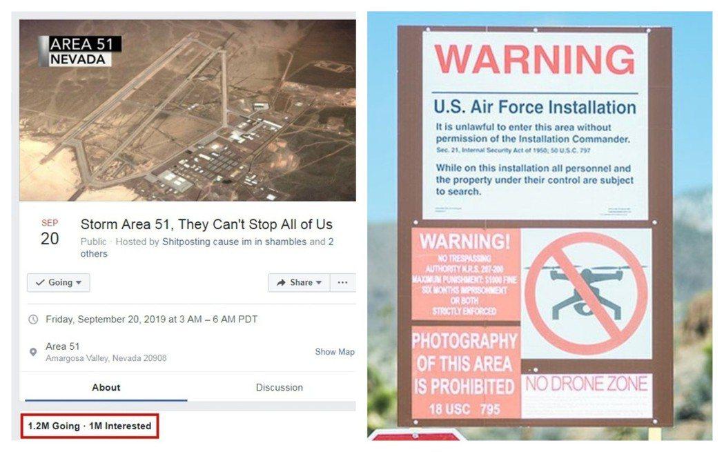 美國內華達州空軍基地以「51區」(Area 51)聞名,數十年來,陰謀論者一直認...