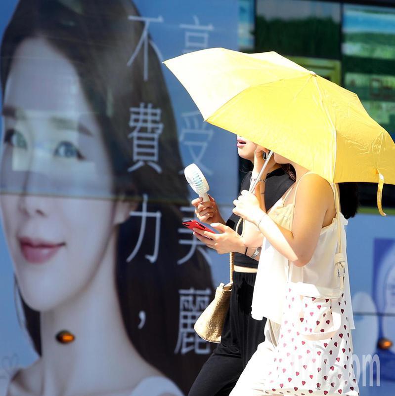 日本網友提出以洋傘作為防疫道具。圖/本報資料照片